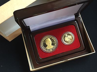 Set of two coin - Indonesia 50 years of Independence Gold coin
