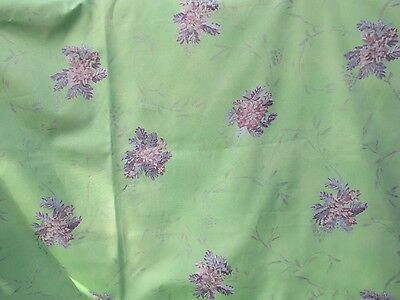 Vintage DESIGNERS GUILD Lime Green Interiors cotton, 2 metres.