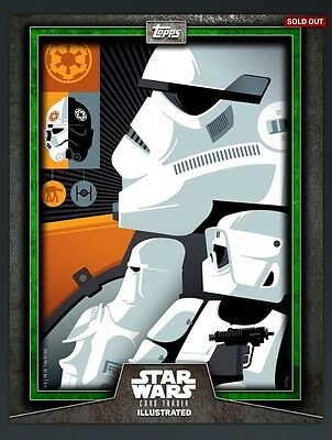 Topps Star Wars Card Trader CTI Stormtrooper Scout Green! Illustrated SWCT