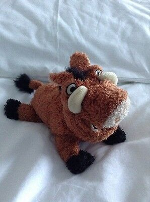 Pumbaa Plush, Soft Toy. The Disney Store. The Lion King.