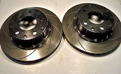 "NEW AP speedway rear rotors & hats  CP 3837 104/105  1"" thick 12"" OD Nascar ARCA"