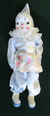 Little Clown Doll With Porcelain Head And Bisque Lower Arms And Legs