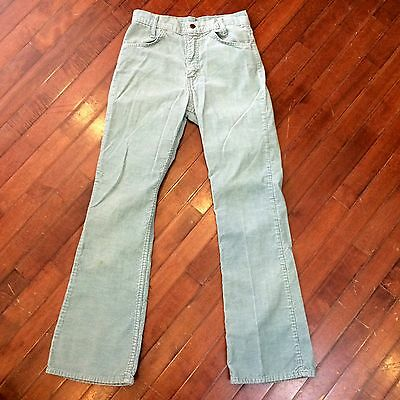 Levis Corduroy Womens 26 x 30 Vintage 70s Baby Blue Boot Cut Pants