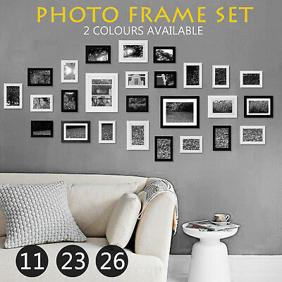 Large Multi Photo Picture Frame Set Home Décor Collage Wall Art Gift 26 23 11PCS