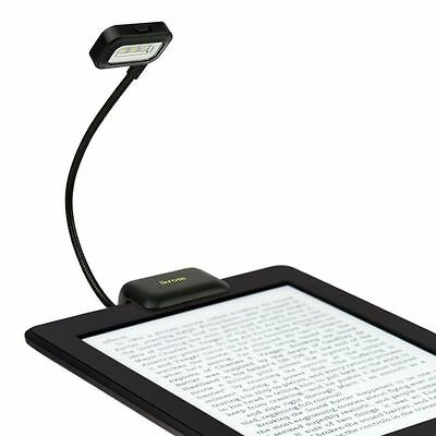 iKross Black Dual LED Clip-On Reading Light for eBook Readers Tablets More
