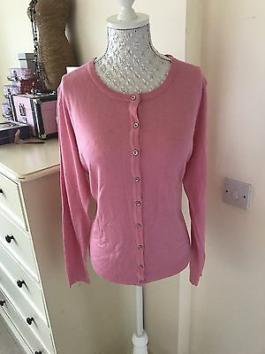 Brand New With Tags Pink Silver  Vintage Style Cardigan Size 16