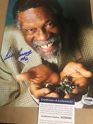 Autographed Bill Russell 8x10 photo PSA Certified Signed