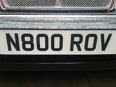 ROVER 800 820 825 827 Vitesse Sterling Coupe Number Plate Land Rover Range Rover