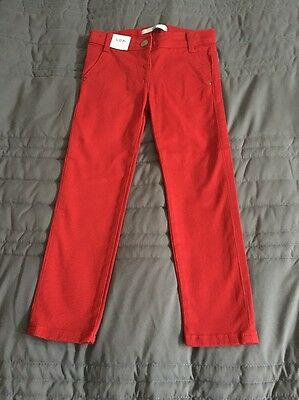 Girls Marks & Spencer Red Jeans Age 3-4