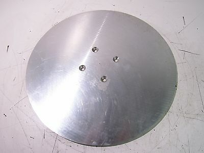 """Aluminum 18"""" Disc Mounting Plate 3/8"""" Thick W/ Countersink Holes ***xlnt***"""