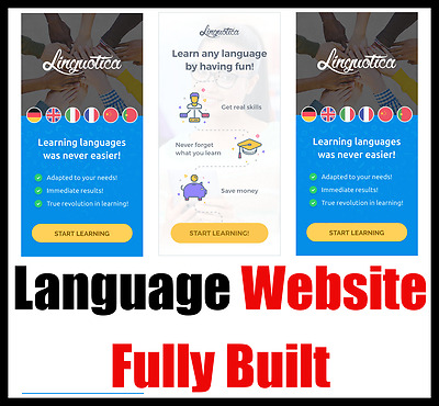 Website - Language Studies - Online Business - For Sale - Internet Affiliate