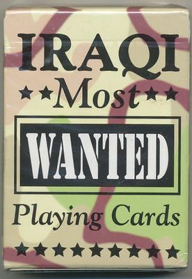 Iraqi Most Wanted Playing Cards Reproduction - New In Sealed Pack
