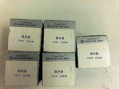 New General Electric Quartzline Projection Lamp BHB 120 V 250 W Lot 5