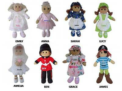 PERSONALISED RAG DOLL 19cm Safe for all ages