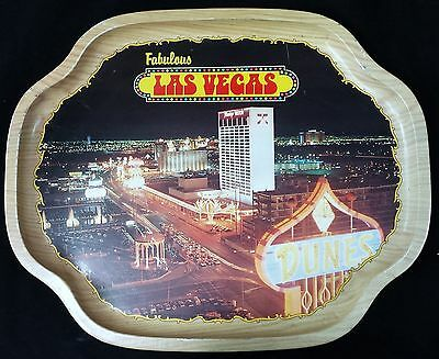 "Vintage Fabulous Las Vegas 13"" X 16"" Metal Serving Drink Tray Flamingo Gift Shop"