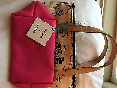 New Kate Spade Gap Kids Printed Canvas Cotton Tote Small 2014 Release