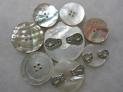 Antique,vintage Mother Of Pearl,shell Buttons