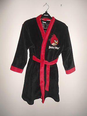 Boys Angry Birds Soft Fleece Dressing Gown Robe Age 6-7 Years