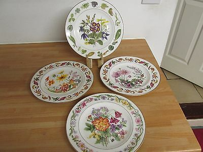 4 Royal Worcester Fine Bone China Royal Horticultural Society Collectors Plates