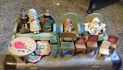 antique dolls house furniture,vintage dolls house bundle of furniture