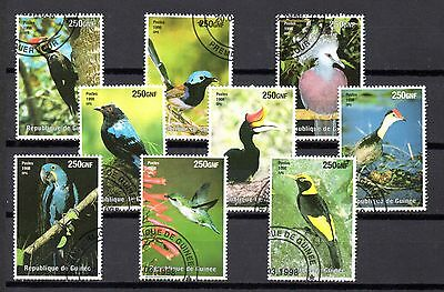 set of 9 used bird themed stamps 1