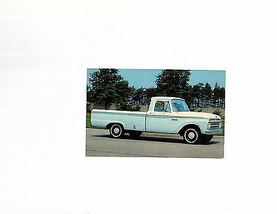 VINTAGE 1965 FORD F-100 PICK-UP TRUCK Unused Postcard FORD BUILT TO LAST LONGER