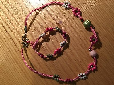 Girls MONSOON Accessorize necklace and bracelet jewellery