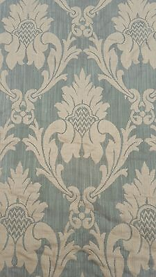 "1800s FRENCH SILK DAMASK FABRIC UPHOLSTERY WEIGHT 38' x 56"" (horizontal)"