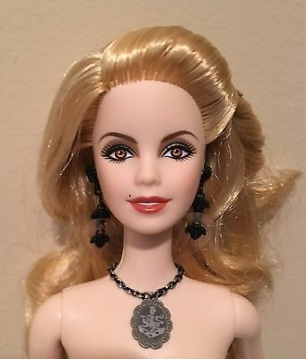 New Rosalie Twilight Barbie Doll Nude Blonde Necklace Earrings Bracelet
