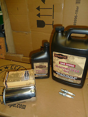SPORTSTER  Service Kit For Harley Davidson  84 to Present  chrome oil filter
