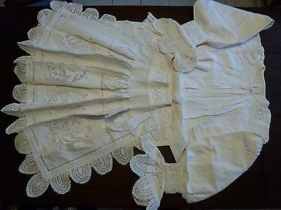 Croatian vintage traditional national folk woman costume white 60 years old