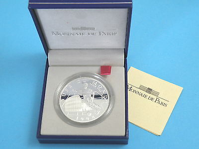 FRANCE - 1997 SILVER PROOF TEN FRANCS COIN - World Cup 1998 + Box & Certificate