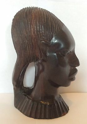 Carved Wood African Woman Bust