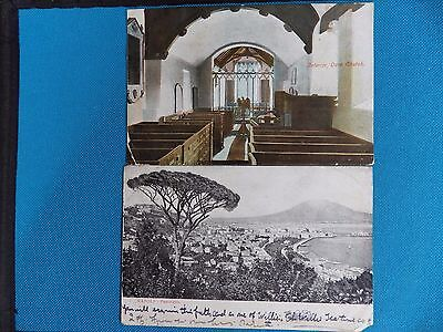 10 Old Postcards 'post Marked 1908'