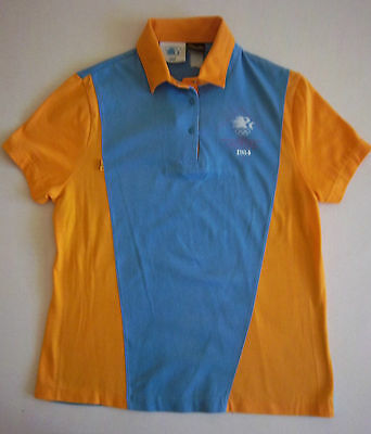 Orig.Polo shirt   Olympic Games LOS ANGELES 1984 - Off.Staff Uniform / BLUE  !!