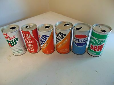 Vintage Steel 280Ml And 12Oz Soda Pop Cans Mountain Dew, Pepsi Etc