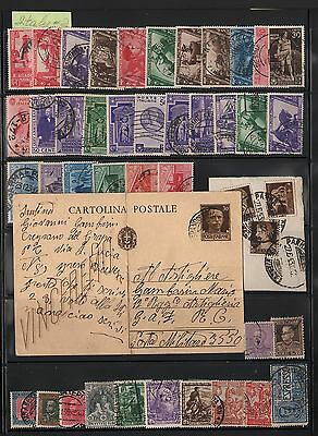 Italy Lot Of Stamps And Postcard #2