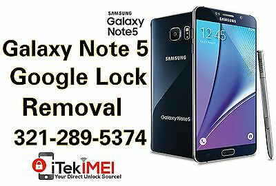 Samsung Galaxy Note 5 N920 Google Account Removal Bypass, Reset FRP