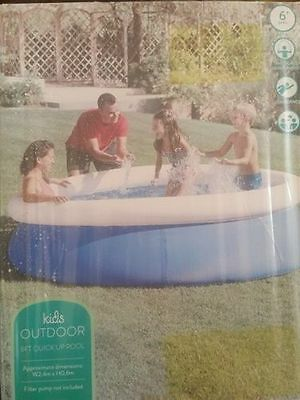 8Ft 8 Foot Swimming / Paddling Pool Quick Up Pool For Kids Brand New In Box
