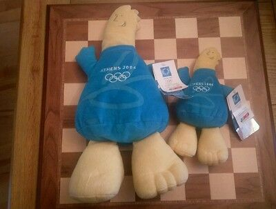 2 x Phevos Soft Toys large & small  Athens 2004 official merchandise with tags