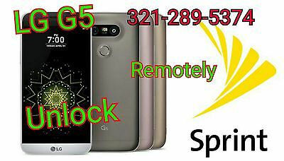 SPRINT SIM UNLOCK Lg G5 Ls992 Factory Unlock *Zvf Supported* ☆Done Remotely☆