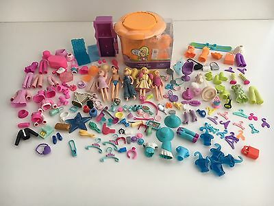 Fashion Polly Pocket Dolls accessories bundle clothes shoes handbags