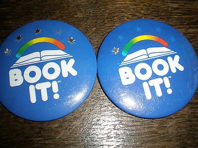 Book It Reading Button Pin x2