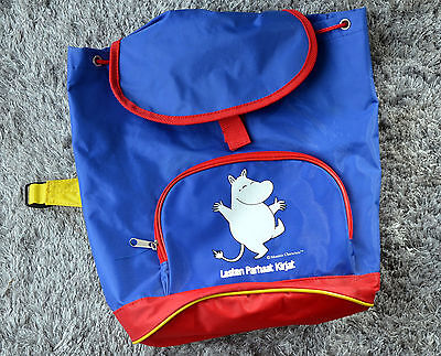MOOMIN Big Kids Backpack Limited Edition for Finnish Book Club Blue School Bag