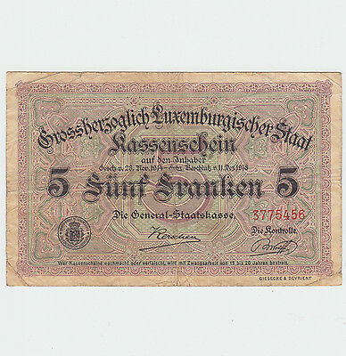 Luxembourg 5 Francs 1914-1918
