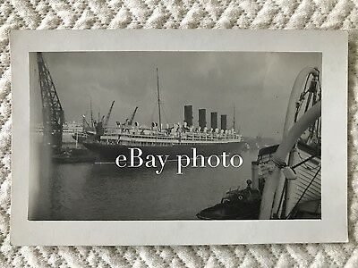 RMS Mauretania Privately Printed Real Photo Postcard in Southampton / Cunard