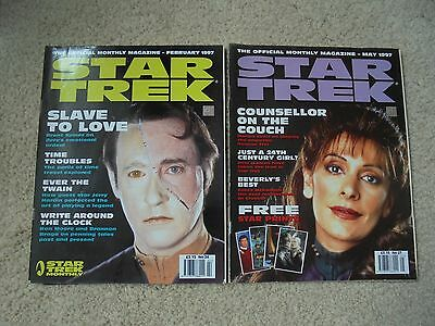 2 Star Trek Official Magazines Feb 1997 & May 1997 numbers 24 & 27