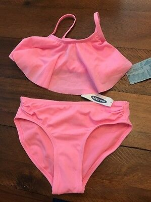 NWT Girls Old Navy Two Piece Bikini Bathing Suit Swimsuit Size Small 6-7 Pink
