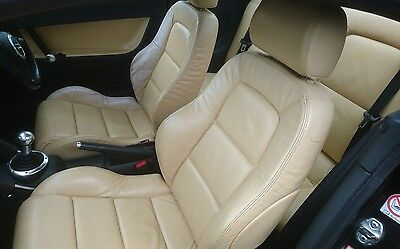 AUDI TT Mk1 8N COUPE ANIS YELLOW LEATHER  Front & Rear Seats & Door cards.