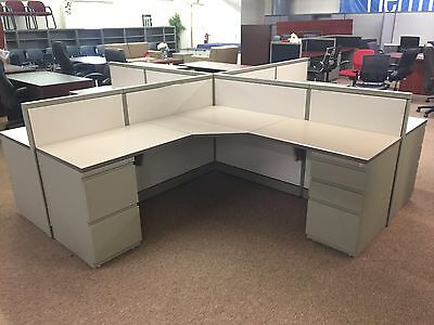 "Steelcase Cubicles 42"" High  6' x 6'  Open Plan Cubicles - Work Stations"